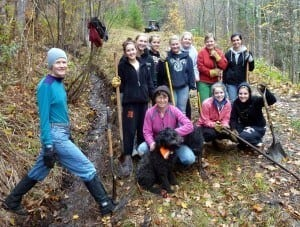 ST creek trail trenching crew